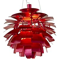 BBSLT Pigna lampadario in alluminio 48cm , il vino rosso