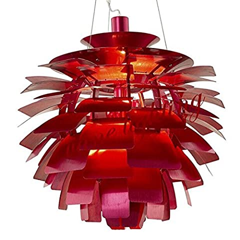 KHSKX Pinecone aluminium chandelier 48cm wine red