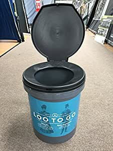 OLPro Unisex Loo to Go A Portable Toilet, Blue, 31.5 x 38 cm