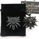 Necklace The Witcher 3 Wild Hunt - Pendentif - Tête de Loup - Medaillon Gerald