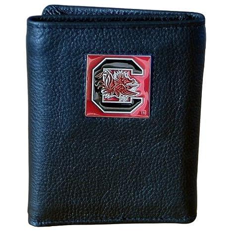 South Carolina Gamecocks Genuine Leather Tri-fold Wallet by Siskiyou