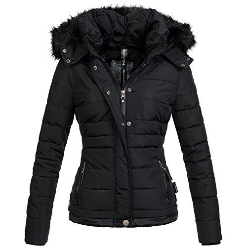 Madonna Damen Winter Jacke warme Stepp Winterjacke Teddyfell gefüttert B426