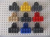 Magnetische LEGO-Steinchen, Set aus 9 farbigen Magneten in Blau, Rot, Hellbraun, Gelb und Grau