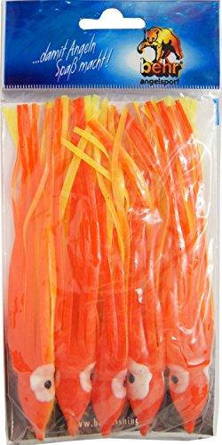 Behr 5 Octopusse/Oktopusse für Meeressysteme, Länge:12cm, Farbe:Gelb/Rot