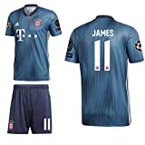 adidas FCB FC Bayern München 3rd Set Champions League 2018 2019 Kinder James 11 CL Logos Gr 152