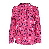 IMJONO Damen Damenblusen Damen Sommerblusen Jersey Bluse Abend Blusen festlich blusenshirts Dunkelblaue Creme Festliche Kurzarm Frauen grüne pünktchen schöne(EU-36/CN-M,Leuchtendes Rot)