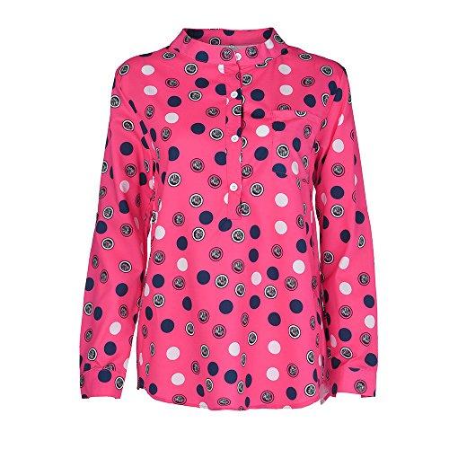 IMJONO Damen Longbluse leinenbluse Blaue mit Glitzer hellblau Spitzenbluse Hemd Tailliert für rosa...