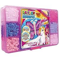 Manía 52403 - Rainbow Beadys Bügelperlen Refill Conjunto Mia and Me, 1800 perlas, rosa