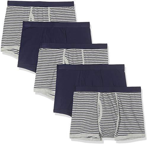 find. Belk073m5 boxershorts, Mehrfarbig (Navy & Grey Stripes/Navy), 52 (Herstellergröße: Large), 5er-Pack