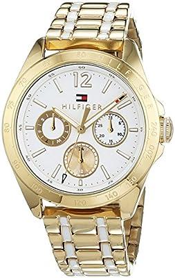 Reloj para mujer Tommy Hilfiger 1781665, mecanismo de cuarzo, diseño con varias esferas, correa chapada en oro.