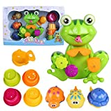 Funny Frog Bath Toy - Bright Colors, Non...