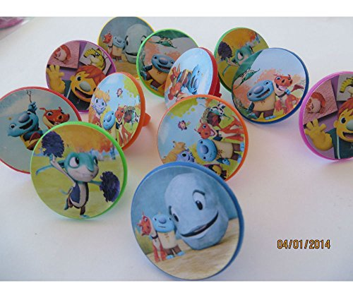 12 Wallykazam Rings cupcake toppers - birthday party favor pinata wally kazam by Unknown