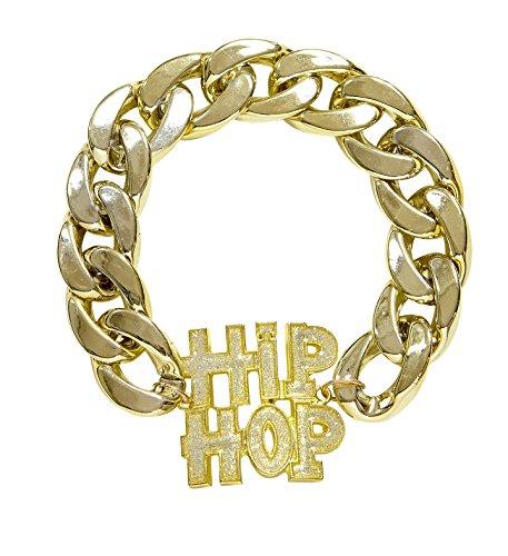 l Babo Lude Macho Prolethen Hip Hop Rapper Armband fette Kette (80's Hip Hop Modeschmuck)