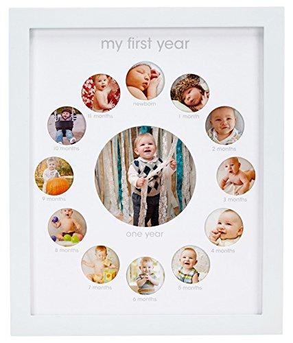 Wand-staffelei Bilderrahmen (Pearhead P63010 Babys erstes Jahr Andenken Bilderrahmen, weiß)