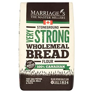Marriage S Master Millers Strong Wholemeal Bread Flour 1 5 Kg Amazon Co Uk Grocery
