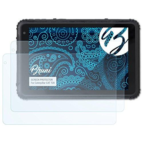 Bruni Schutzfolie für Caterpillar CAT T20 Folie, glasklare Bildschirmschutzfolie (2X)