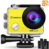Crosstour Action Cam WiFi Sports Aktion Kamera 4K Ultra HD 2' LCD Unterwasserkamera 30M 170...