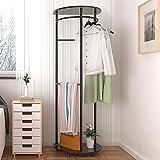 ZZHF yimaojia Stand halbrund kreative Garderobe/Schlafzimmer Wohnzimmer/einfache bewegliche Kleiderbügel (4 Farben optional) Kleiderständer (Farbe : D, größe : 120 * 60cm)