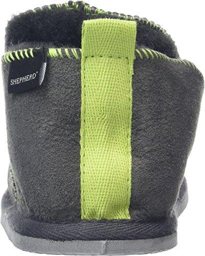 Shepherd Unisex-Kinder Nice Hausschuhe Grey (Asphalt Lime 62)