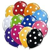 Tiger 50073 Polka Dot Printed Balloon Multicolor (Pack Of 30)
