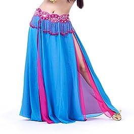Dimensione M Dance Fairy Chiffon Dangling Monete Danza del Ventre Hip Scarf Wrap Belt Non Altri Accessori