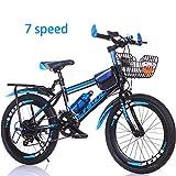 Bike 7 Geschwindigkeit Kinderfahrräder Fahrräder 18 Zoll 20 Zoll Mountainbikes Für Jungen Und Mädchen,Blue1,18In