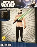 Rubies–17073–Star Wars–Disfraz para niños–Qui de GON Jinn–Tamaño M–Contiene: bedruckten Einteiler & Máscara