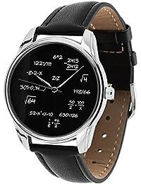 Reloj Sonora negra–matemáticas–braclet en piel