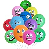 Party Propz 25 Pcs Emoji Balloon/ Smiley Balloon for Decoration