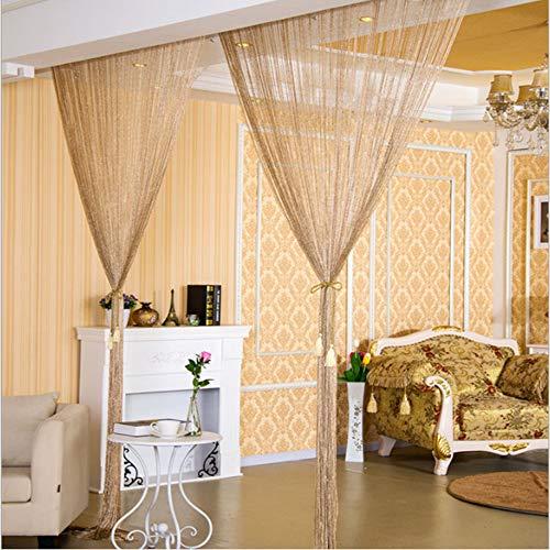 Gardinen Einfache Gardinen Quasten Sheer Window Panel Vorhang, Schöne Quaste Fenster Vorhang Home Schlafzimmer Wand Silber Seide Glitter ()