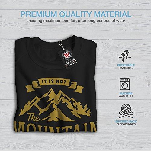 Montagne Femme S-2XL Sweat-shirt | Wellcoda Noir