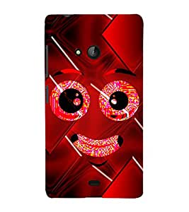 Smiley Cute Looks 3D Hard Polycarbonate Designer Back Case Cover for Lumia Lumia 540 :: Microsoft Lumia 540