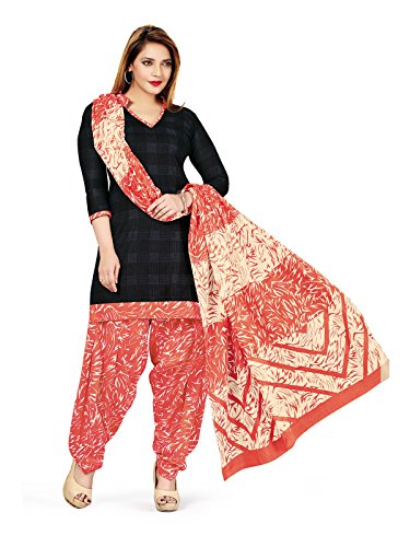 Low Price Cotton Black and Peach Patiala Suit dress for women daily wear in free size (Pshopee presents New Collection latest low price gowns for women party wear salwar suit for women Patiyala suits for women chudidar material cotton Latest Wear dresses for women party wear gowns for girls party wear latest saree collection 2017 unstitched dress materials with cotton printed duppatta lace border top kameez for women Churidar Salwar Kameez Anarkali suit navratri special long gowns for girls)  available at amazon for Rs.649