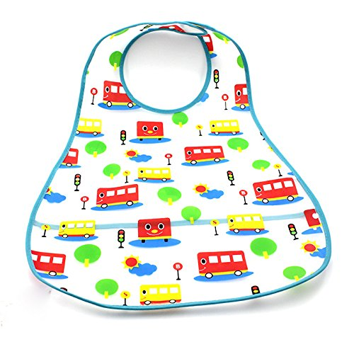 Heiß Kleinkind Lätzchen Baby Kleinkind Jungen Mädchen Pinny Füttern Pflege Wasserdicht 0-5 Jahre EVA(klein Bus) (Heißen Bedingungen)