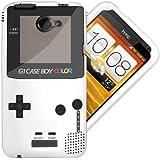 Etui de créateur pour HTC One X - Etui / Coque / Housse de protection en TPU/gel/silicone avec motif cool gameboy couleur