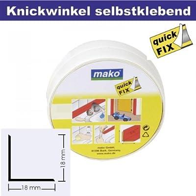 Knickwinkel Winkel Profil selbstklebend 18 x 18 mm in weiss 5 m Rolle Selbstklebe Klebe Profile Profil Winkel von mako GmbH - TapetenShop