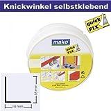 Knickwinkel Winkel Profil selbstklebend 18 x 18 mm in weiss 5 m Rolle