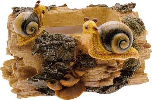 Cache-pot tronc escargots cm.13 H. en résine