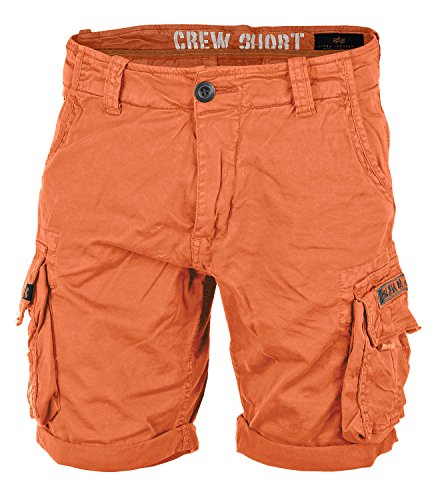 Alpha Ind. Crew Shorts flame orange - 34