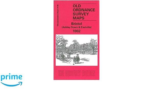 OLD ORDNANCE SURVEY MAP BRISTOL ASHLEY DOWN EASTVILLE 1902 STAPLETON GREENBANK