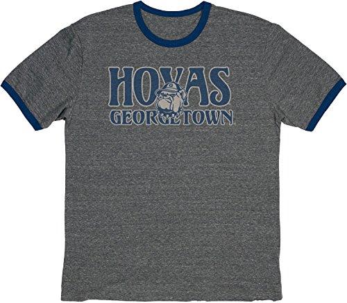 Blue 84 NCAA Georgetown Hoyas Vintage Tri-Blend Ringer-T-Shirt, groß, Marineblau -