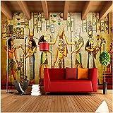 Ytdzsw Papel Tapiz De Egipto Murales Fotográficos Retro Personas Europeas Faraón De Egipto Pirámides Papel Tapiz De Pared 3D-250X175Cm