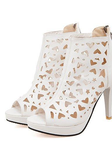 UWSZZ Die Sandalen elegante Comfort Schuhe Frau - Sandalen - Büro und Arbeit/formale-Tick - mandrin - Kunstleder - Schwarz/Pink/weiß Pink