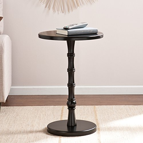 Reyna Black Round Accent Table