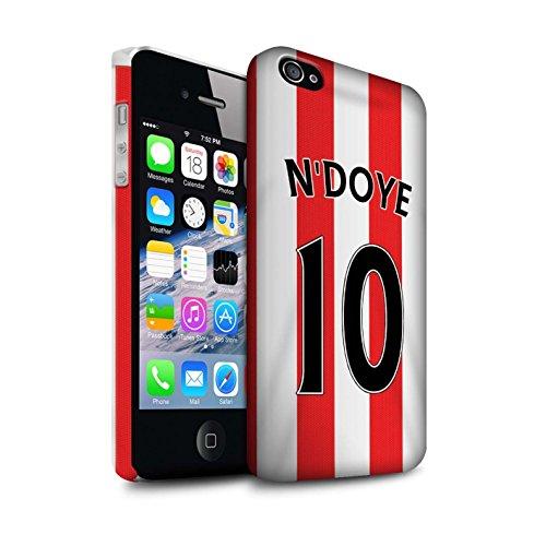 Offiziell Sunderland AFC Hülle / Matte Snap-On Case für Apple iPhone 4/4S / Pack 24pcs Muster / SAFC Trikot Home 15/16 Kollektion N'Doye