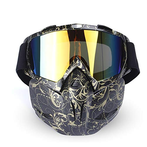 Lafeil Sportsonnenbrille Damen Damen Herren Im Freien Militärische Feld Cs Taktische Schutzbrillen Motorradbrillen Flower Schwarz