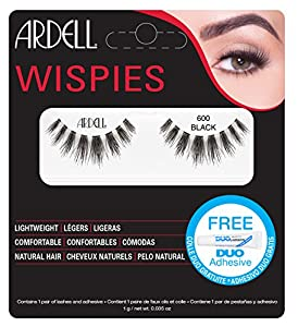 Ardell Wispies Clusters Lashes, Number 600, Black