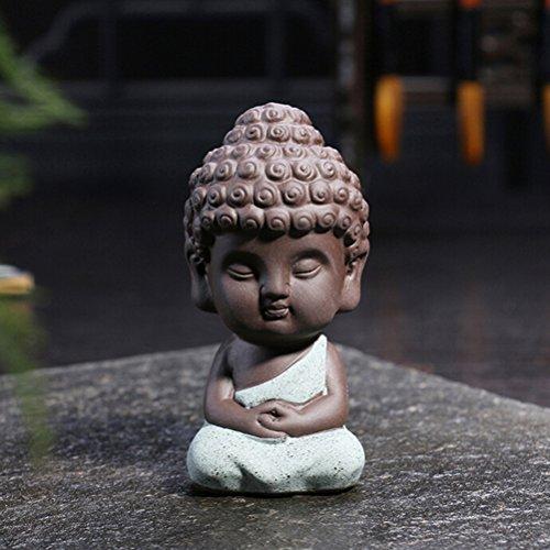 jettingbuy Süßer kleiner Buddha Statue Mönch Figur Tathagata Indien Yoga Mandala Skulpturen Satisfied financial