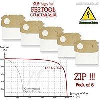 MAKITA 446; 443 /& 444 M Self-Cleaning Reusable* Fabric ZIP Filter Bag