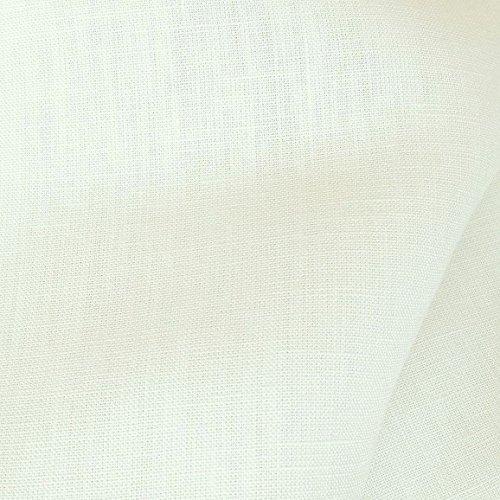 TOLKO® Leinen Stoff mit Baumwolle Meterware zum Nähen, blickdichter Naturstoff für Bekleidung, Gewänder, Vorhänge und Deko - Creme-Weiß (Baumwoll-leinen-robe)